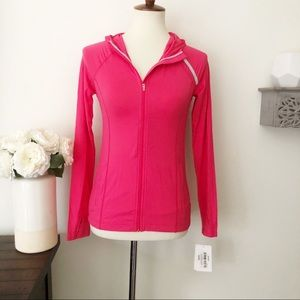 Bloq UV hot pink athletic pullover jacket XS new